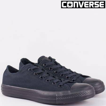 Дамски кецове Converse в черен цвят на равно ходило 5039-40ch