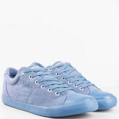 Мъжки спортни обувки с връзки в син цвят от утвърден немски производител- S.Oliver 513628s