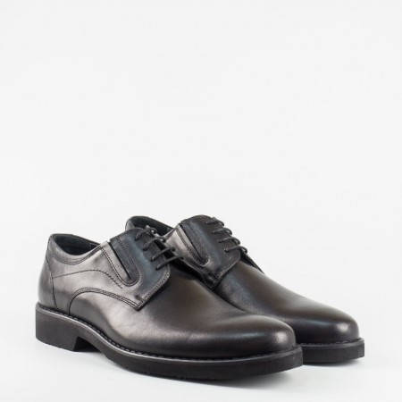 Елегантна мъжка обувка в черен цвят с ластици 5153ch