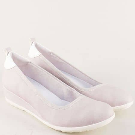 Дамски обувки в бежов цвят на клин ходило- S. Oliver 522302bj