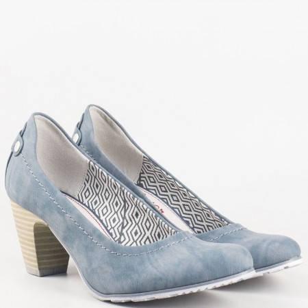 Дамски стилни обувки за всекиден на немския производител s.Oliver в син цвят 522404s