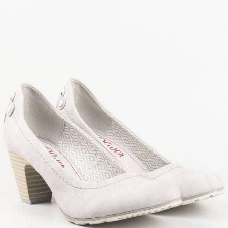 Дамски ежедневни обувки на комфортно меко ходило на немския производител s. Oliver в сив цвят 522404sv