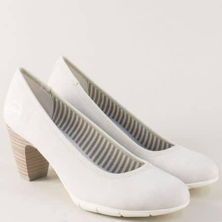 Немски дамски обувки на висок ток в сив цвят- S.Oliver 522405sv