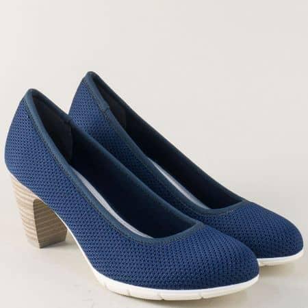 Немски дамски обувки на висок ток в син цвят 522408s