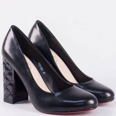 Актуални дамски обувки на ефектен висок ток- Eliza в черен цвят 523321ch
