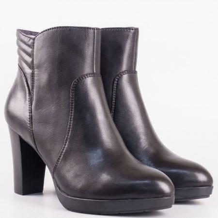 Дамски удобни боти изработени от висококачествена естествена кожа на немския производител s.Oliver в черен цвят 525333ch