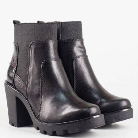 Дамски стилни боти със стелка от мемори пяна на немската марка S.Oliver в черен цвят 525474ch