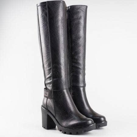 Дамски елегантни ботуши с немско качество на грайферно ходило на марката S.Oliver 525618ch