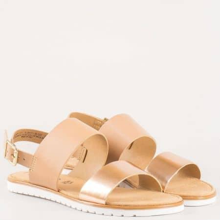 Немски дамски сандали в кафява естествена кожа- S.Oliver  528101k