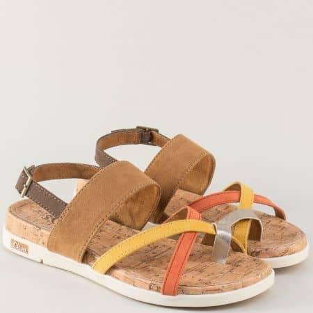 Пъстри дамски сандали на равно ходило- S.Oliver  528116k