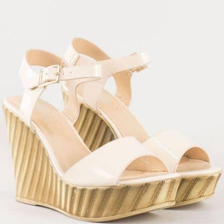 Дамски сандали за всеки ден на клин ходило  53823lbj