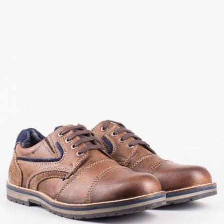 Мъжки ежедневни обувки със стелка с мемори пяна в кафяв цвят на немския производител S.Oliver 5513608k