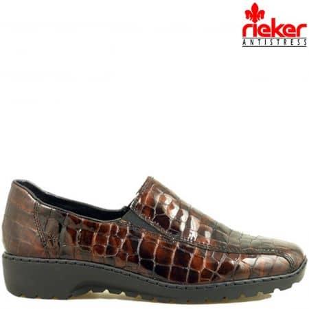Швейцарски равни дамски обувки Rieker ANTISTRESS 6070klkk