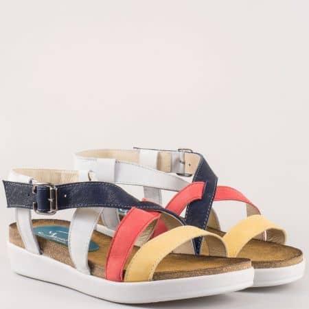 Дамски сандали на комфортно ходило на български производител в цветова комбинация 634152ps