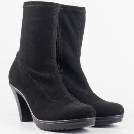 Дамски ежедневни боти от качествен стреч материал на български производител в черен цвят 65410285vch