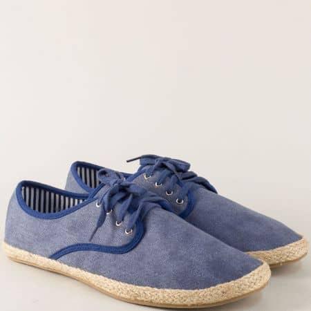 Спортни мъжки обувки в син цвят 6893s