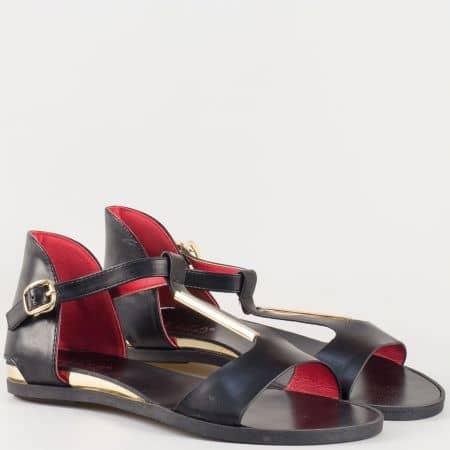 Дамски сандали за всеки ден с атрактивна визия на българския производител Eliza в черен цвят 72059ch