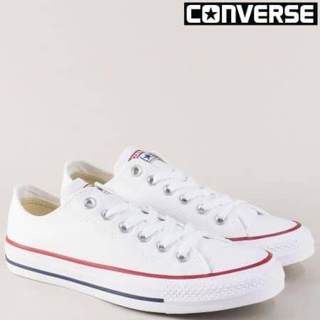 Бели дамски кецове с връзки CONVERSEAll- Star 7652-40b