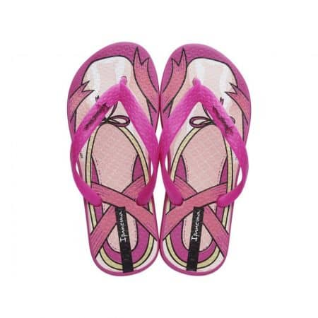 Комфортни детски джапанки с лента между пръстите- Ipanema в лилаво и розово 8156720791