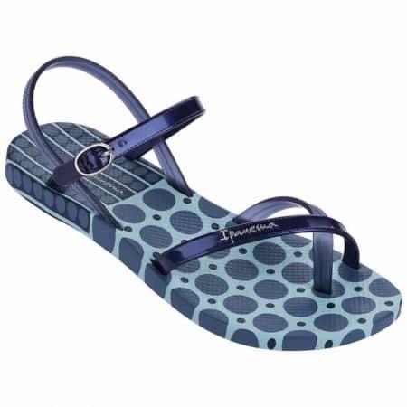 Бразилски дамски сандали с лента между пръстите- Ipanema в син цвят 8170924268