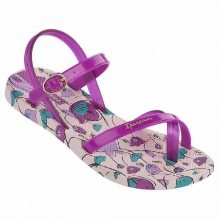 Актуални детски сандали с лента между пръстите- Ipanema в лилаво, розово, бежово и зелено  8171520687