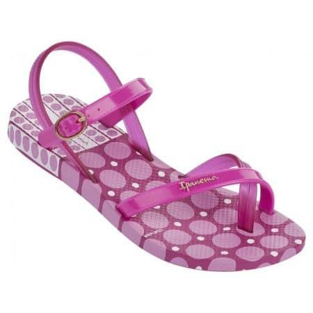 Детски силиконови сандали с лента между пръстите- Ipanema в лилаво, розово и бяло 8171522521