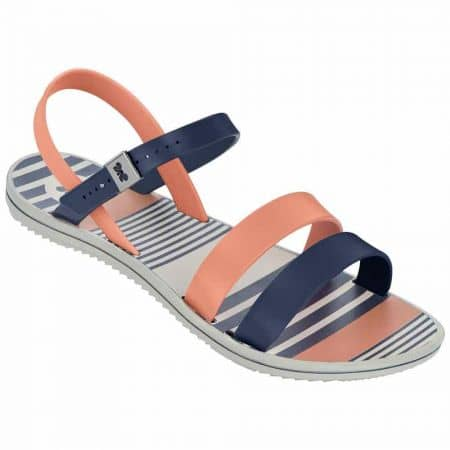 Дамски атрактивни сандали на удобно ходило на бразилската марка Grendha в синьо и оранжево 8175590201