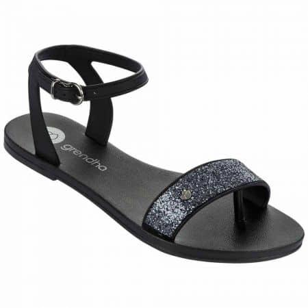 Дамски сандали на гъвкаво ходило с каишка на бразилския производител Grendha в черен цвят 8178990058