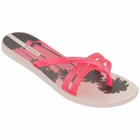 Дамски джапанки изработени от висококачествен силикон на меко ходило на Ipanema в розов и бежов цвят 8180622190