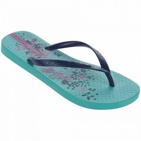 Дамски джапанки на гъвкаво ходило с лента между пръстите- Ipanema в лилаво и синьо 8180923470