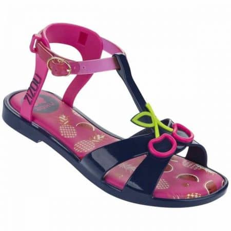 Модерни детски сандали с декорация- Ipanema в зелено, лилаво, розово и черно 8184252833