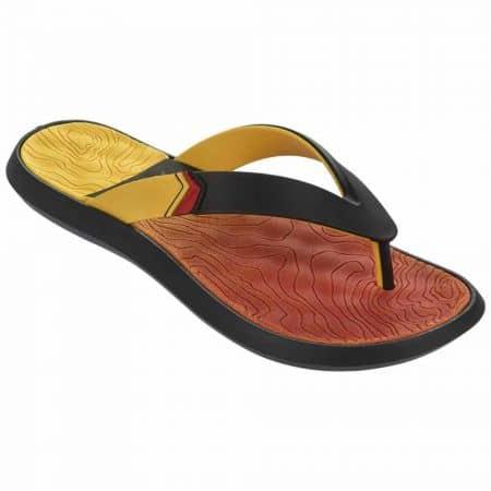 Мъжки джапанки от висококачествен силикон на бразилската марка Rider в жълт, червен и черен цвят 8184624096