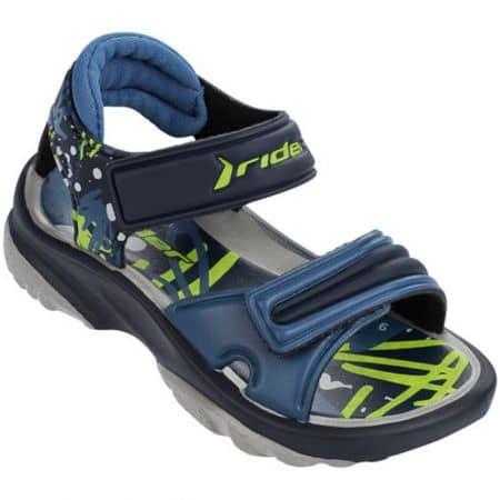 Комфортни детски сандали в син и зелен цвят с велкро лепки 8191223973