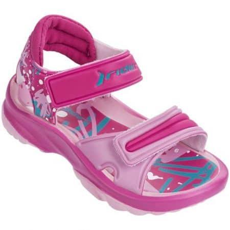 Детски сандали Rider в розов и син цвят на стабилно ходило 8191224074