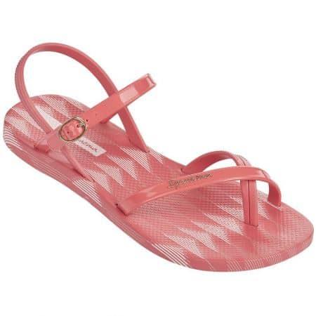 Розови дамски сандали между пръстите Ipanema на равно ходило  8192920995