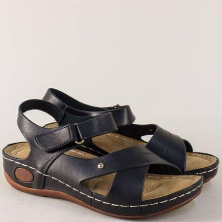 Дамски сандали на комфортно ходило в черен цвят 820026ch