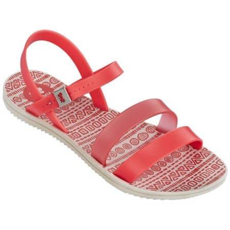 Дамски сандали Grendha в червено и оранж на равно ходило 8206190468