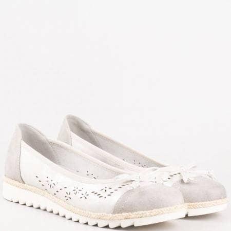 Сиви дамски обувки с вадеща се стелка- на немският производител Jana 822107sv