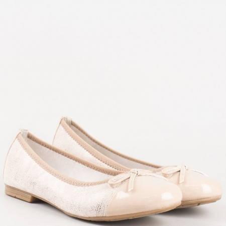 Бежови балерини с панделка на утвърденият немски производител Jana 822109bj