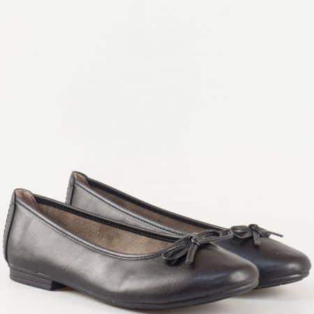 Дамски ежедневни обувки, тип балерини, на немската марка Jana в черен цвят 822163ch