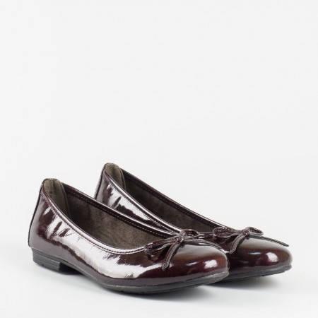 Дамски обувки, тип балерини, на удобно ходило на немския производител Jana в лилав цвят 822163ll