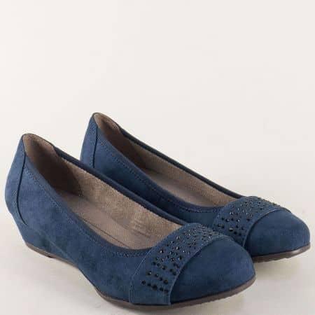 Сини дамски обувки Jana на клин ходило  822260vs