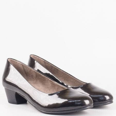Немски дамски обувки на среден ток в черен цвят 822360lch