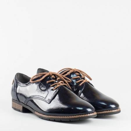 Дамски ежедневни обувки с връзки на немския производител Jana в син цвят 823260ls