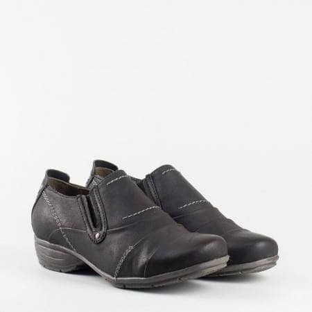 Ежедневни дамски обувки с каучуково ходило и два ластика. 824661ch