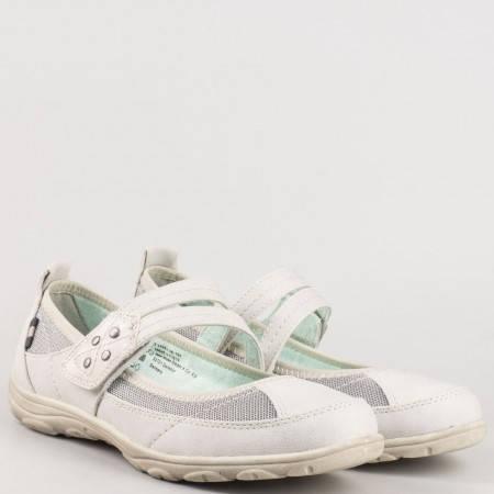 Сиви равни дамски обувки - Jana с велкро лепенка и дискретни ластци 824663svb