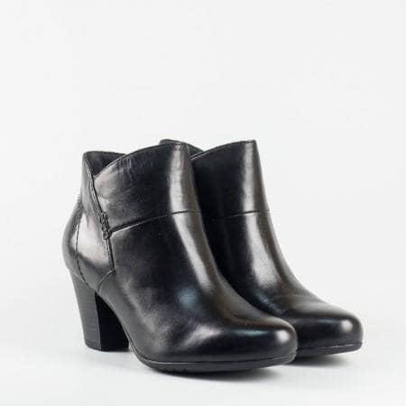 Черни дамски боти от естествена кожа на немската фирма Jana на висок ток 825315ch