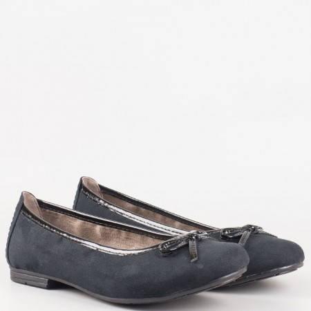 Немски равни дамски обувки Jana тип балеринa в черен цвят 8822164nch