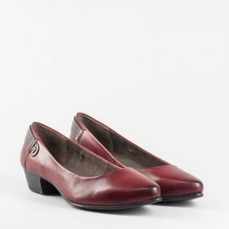 Дамски обувки от естествена кожа с Flex-Comfort система в бордо 8822200bd