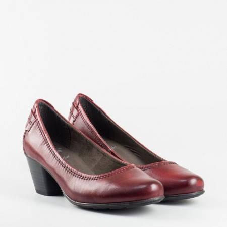 Дамски обувки JANA на среден ток с Anti-shokk в цвят бордо 8822404bd